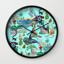 Ladies of the canyon, tribute to Joni Mitchell. Wall Clock