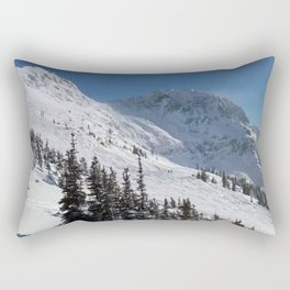 Mountains color palette of white-black-blue Rectangular Pillow
