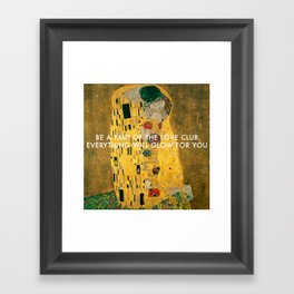 Love Club Kiss Framed Art Print