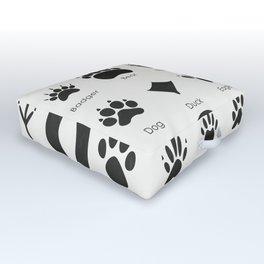 Common Animal Tracks Outdoor Floor Cushion