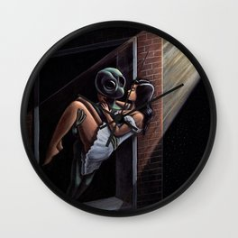 Stranger In The Night Painting Wall Clock