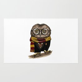 Owl Potter with glasses Rug