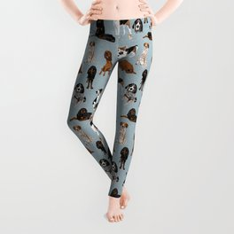 Coonhounds on Blue Leggings