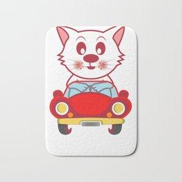 Miauzda Cat And Car Lover Gift Bath Mat