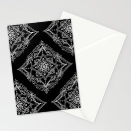 Mandala Doodle Pattern in Black & White Stationery Cards