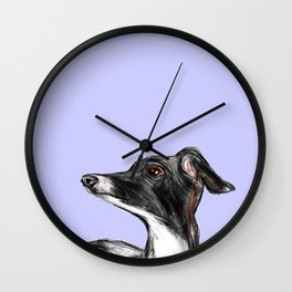 Italian Greyhound Illustration Wall Clock