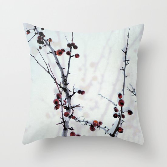 Red Freeze Throw Pillow