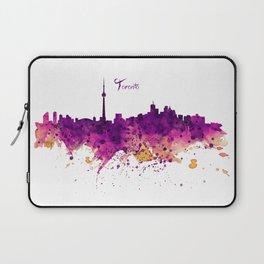 Toronto Watercolor Skyline Laptop Sleeve