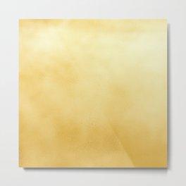 Modern elegant chic  faux gold foil gradient Metal Print