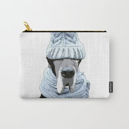 Great Dane Winter is Here Carry-All Pouch