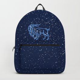 Capricorn Constellation and Zodiac Sign with Stars Backpack