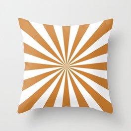 Starburst (Bronze/White) Throw Pillow