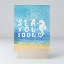 Sea you soon [Santorini, Greece] #8 Mini Art Print