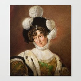 COUNTESS ZOFIA POTOCKA BRANICKA Canvas Print