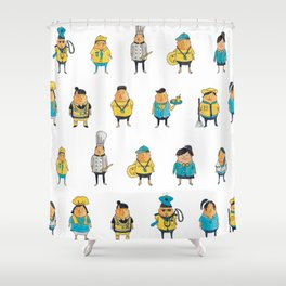 Wooferland: Wooferkers Pattern Shower Curtain