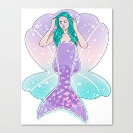 Holo Mermaid Canvas Print
