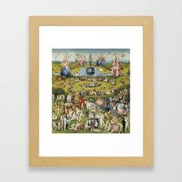 THE GARDEN OF EARTHLY DELIGHT - HEIRONYMUS BOSCH Framed Art Print