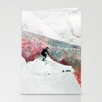 skiing Stationery Cards featuring Vintage Skiing by Pati Designs
