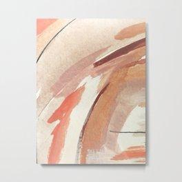 Aly: minimal | pinks | white | black | mixed media | abstract | ink | watercolor | wall art Metal Print