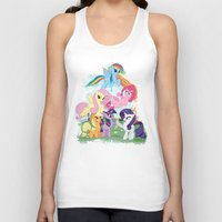 my little pony Tank Tops featuring My Little pony by Paul Abstruse