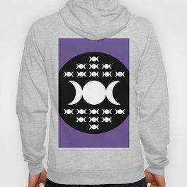 Triple Moon Goddess - White, Black and Ultra Violet Hoody
