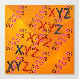 XYZ - pattern Canvas Print