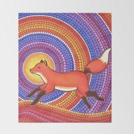 Fearless Friendly Fox Throw Blanket