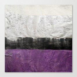 Purple Silver Canvas Print