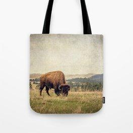 Bison Land Tote Bag