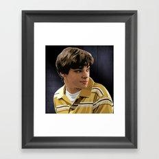 Breaking Bad Illustrated - Walter Junior White Framed Art Print