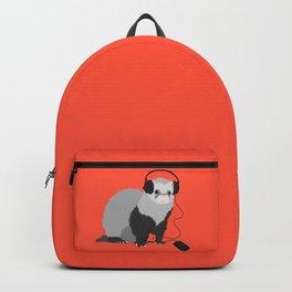 Music Loving Ferret Backpack