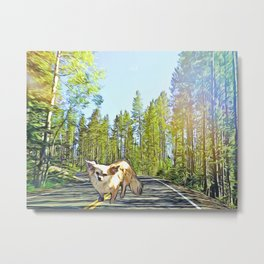 Stewie in the Forest Metal Print