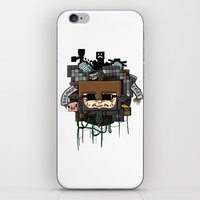 book cover iPhone & iPod Skins featuring CRAFT - Book Cover by VerticalSynapse