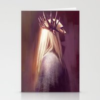 thranduil Stationery Cards featuring Thranduil by Angela Taratuta