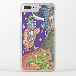Alien May Day & Fire  Frogs Clear iPhone Case