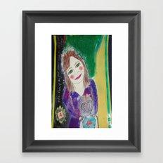 Self Love Portrait for Inner Peace  Framed Art Print