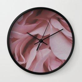 Abstract Pink Rose Petal Photography Wall Clock