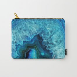 Bright Blue Agate Carry-All Pouch