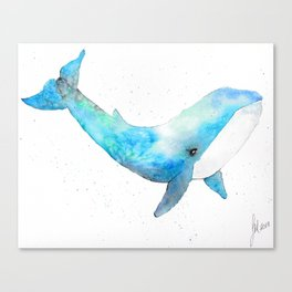 Whaling About Canvas Print
