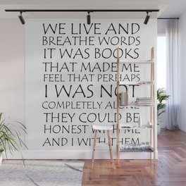 We Live And Breathe Words Wall Mural