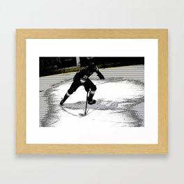 On the Move - Hockey Player Framed Art Print