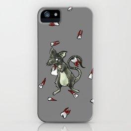 Dirty Rat bloody Teeth iPhone Case