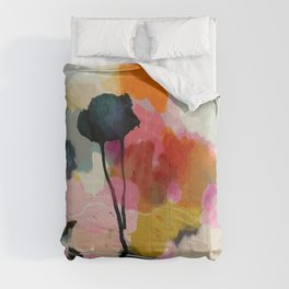 paysage abstract Comforters