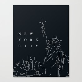 Minimal New York Poster Canvas Print