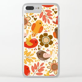 Fall Birds Clear iPhone Case