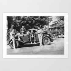 Brothers on an Automobile Art Print