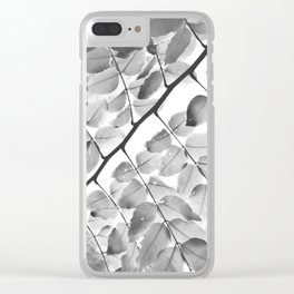 Nobody's Perfect Monochrome Light Clear iPhone Case