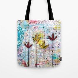 Little Lotus Flowers Tote Bag