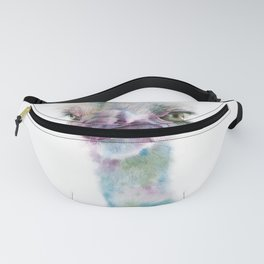 ostrich watercolor illustration Fanny Pack