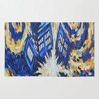 dr who Area & Throw Rugs featuring Dr Who by giftstore2u